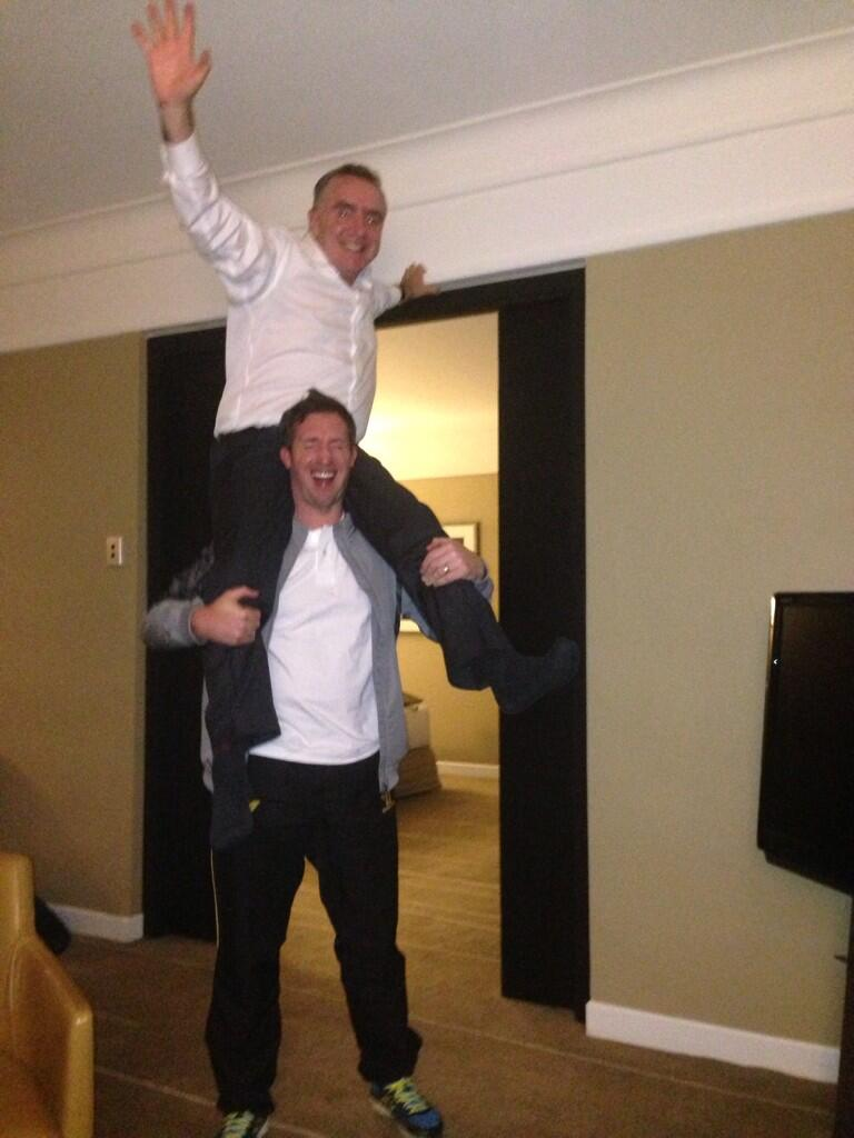Picture: Ian Ayre standing on the shoulders of Fowler